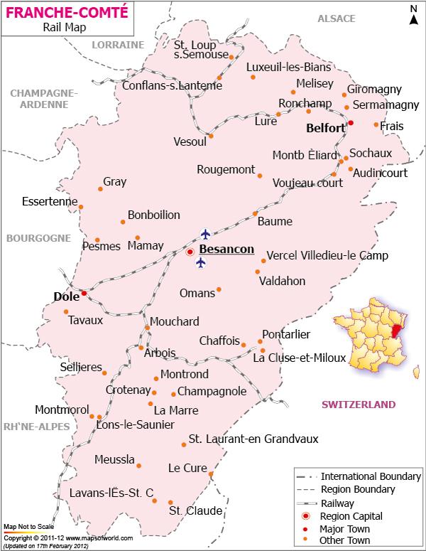 France Comte Railway Map