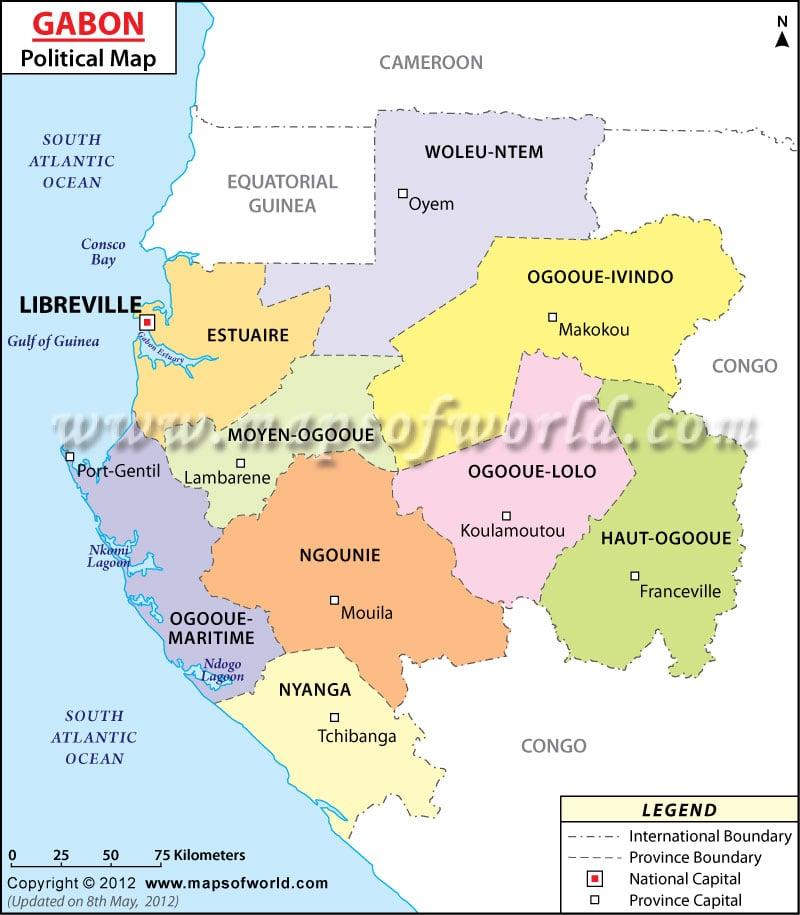 Political Map of Gabon