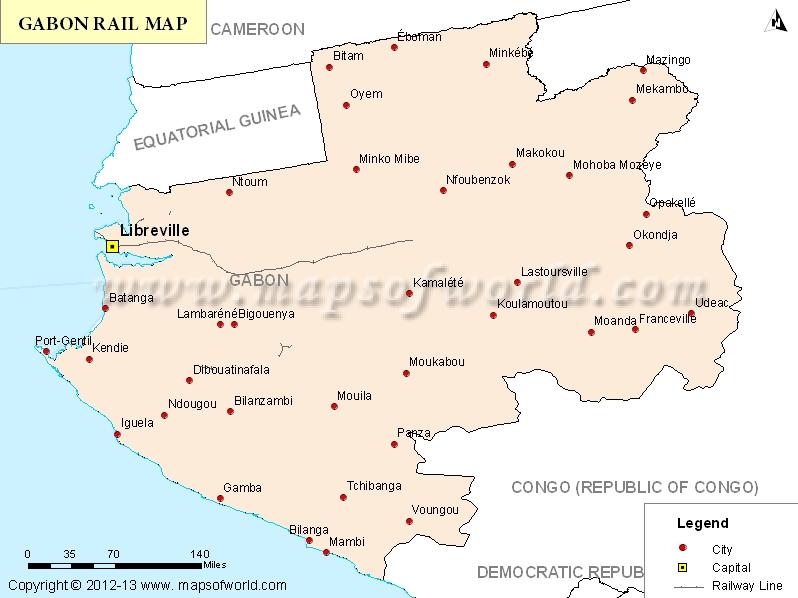 Gabon Rail Map