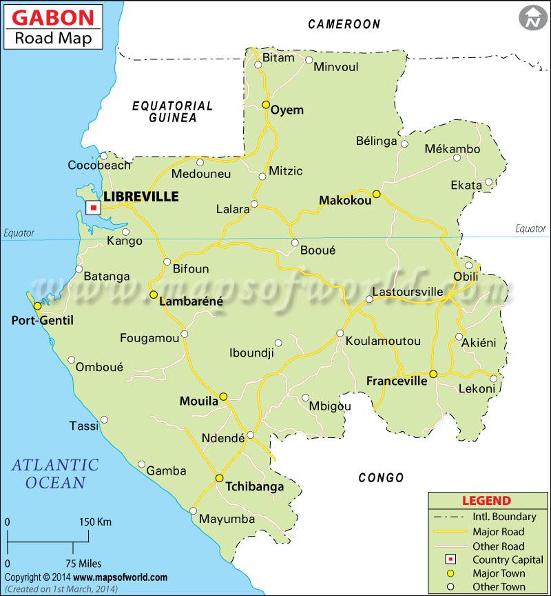 Gabon Road Map