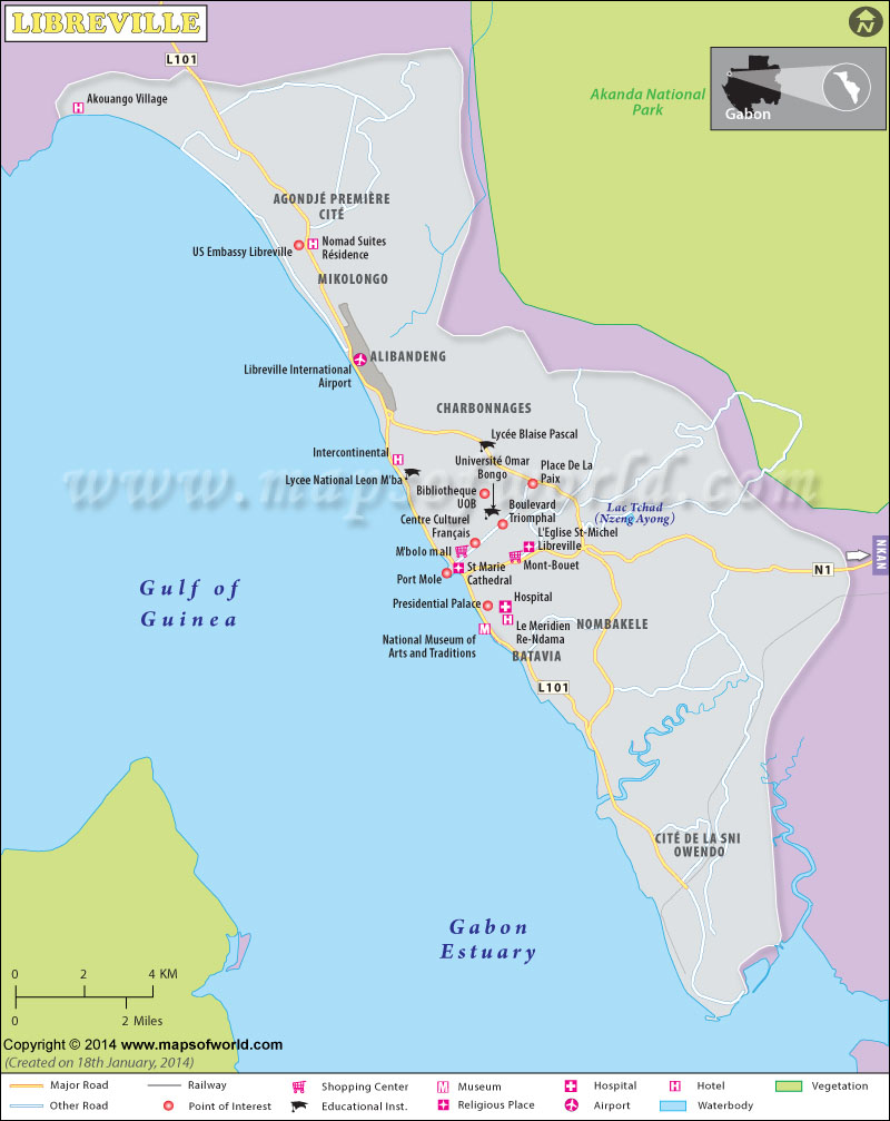 Libreville Map | Maps Libreville Map