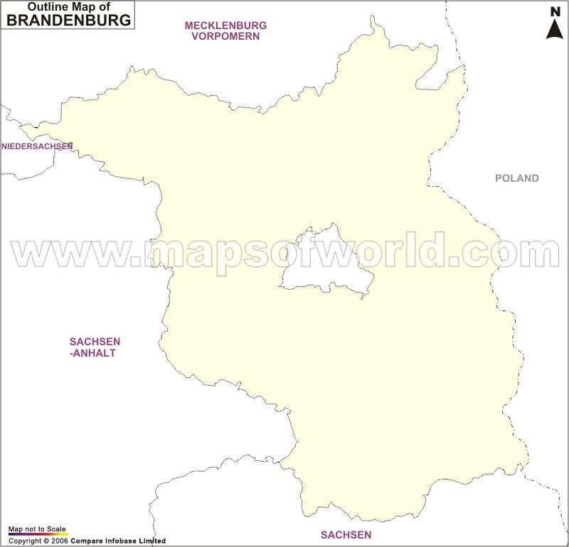 Brandenburg Outline Map