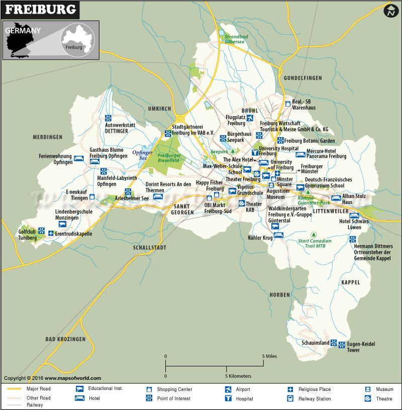 Freiburg Map