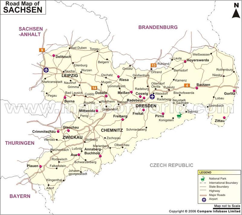 Sachsen Road Map