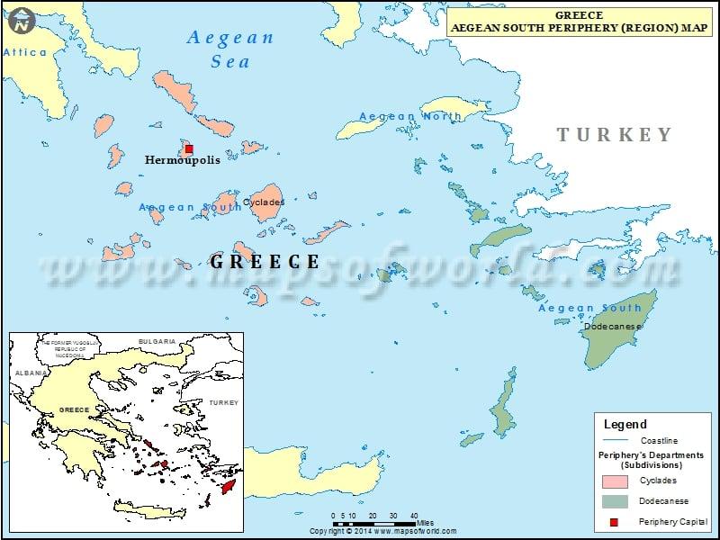 South Aegean Map