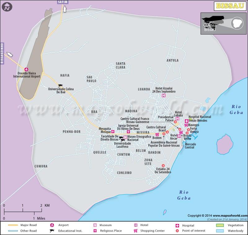 Bissau City Map