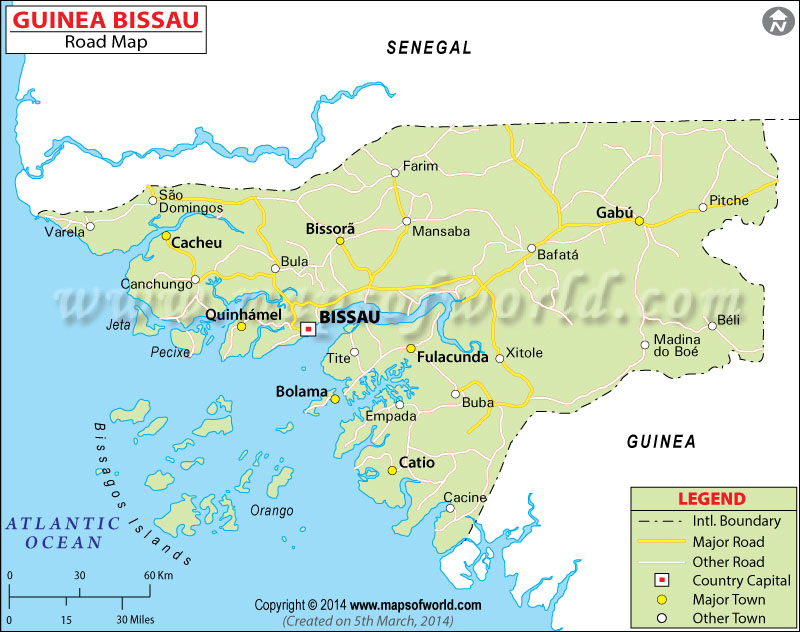 Guinea Bissau Road Map