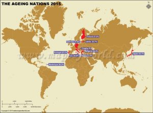 Ageing Nations 2015 Map