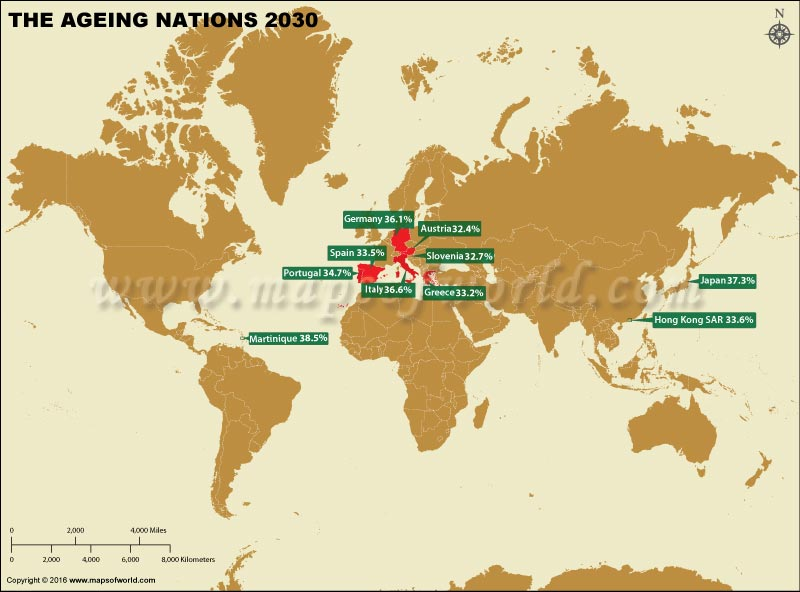 Ageing Nations 2030 Map