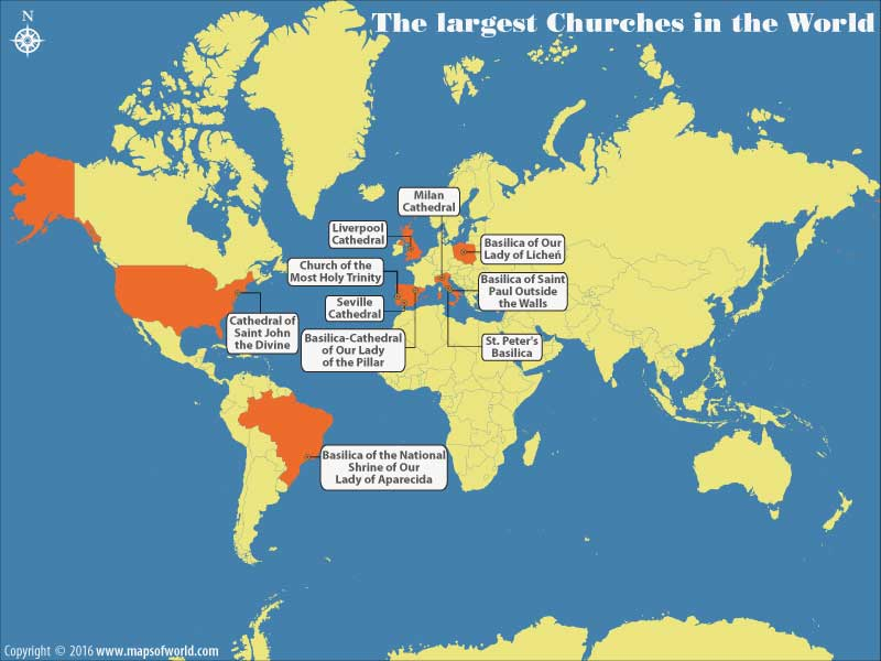 The largest churches in the world