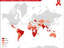 Countries With the Largest Number of People Living With AIDS