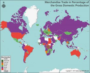 Get to Know the Merchandise Trade of the Countries in Percentage of the GDP