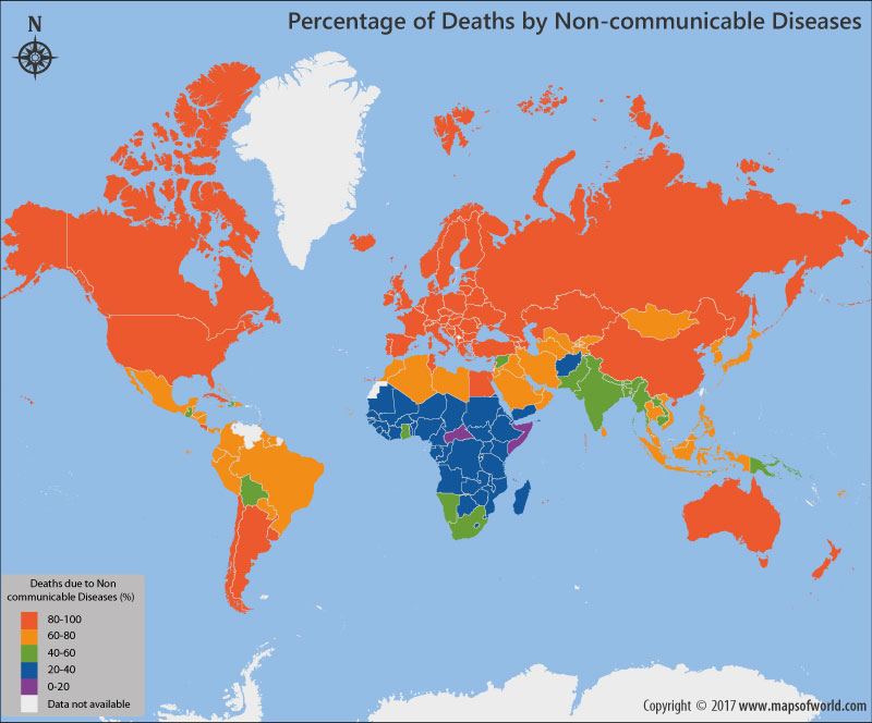 Percentage of Deaths By Communicable Diseases