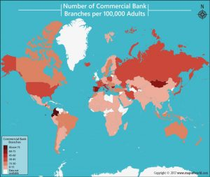 Get to Know the Number of Commercial Bank Branches per 100,000 Adults