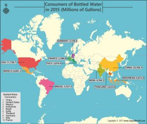 Get to Know Which Nations Have the Largest Consumers of Bottled Water
