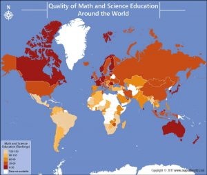 Get to Know The Quality of Math and Science Education Per Country