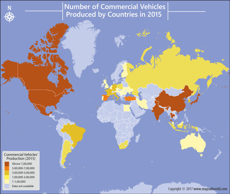Find Out How Many Commercial Vehicles Were Produced By Each Nation