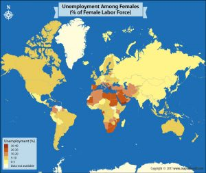 Take a Look at the Percentage of Female Labor Force that is Unemployed