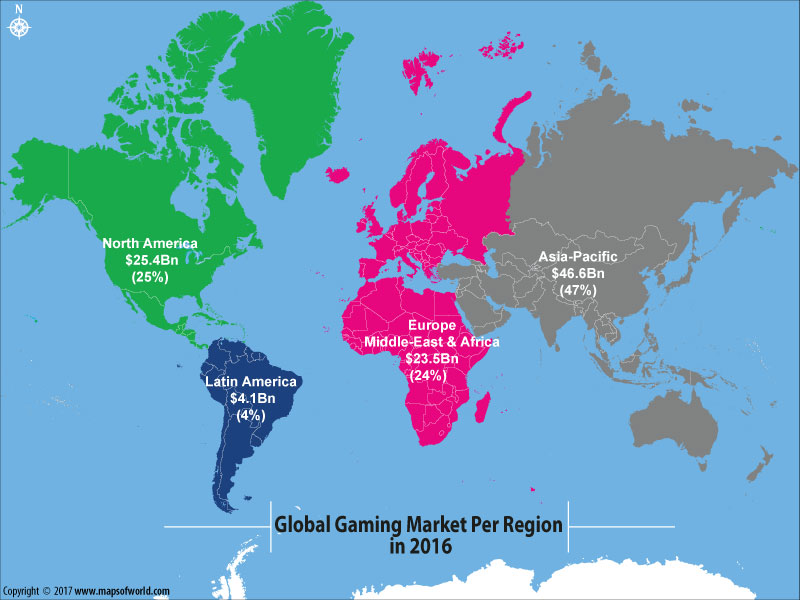Take a Look at the Global Gaming Market Per Region