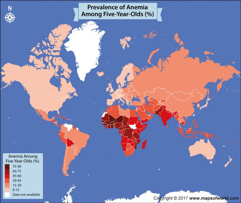 Get to Know The Percentage of Children Affected by Anemia