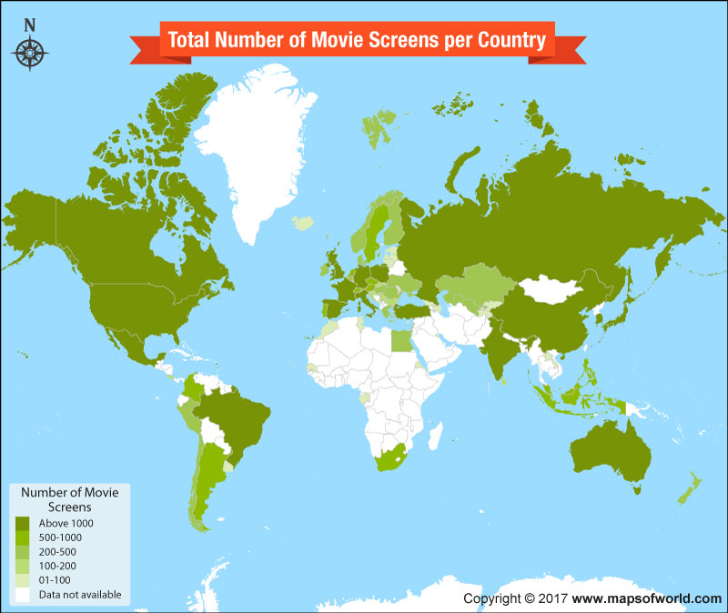 Have a Look at the Number of Movie Screens per Country
