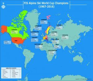 Have a Look at the Number of FIS Alpine Ski World Cup Winners