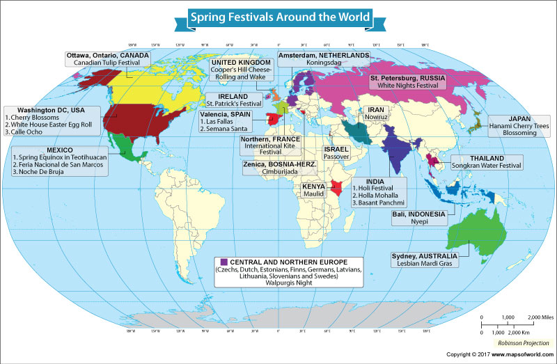 Spring festivals around the world