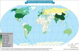 Take a Look at the Wind Power Capacity in Each Nation