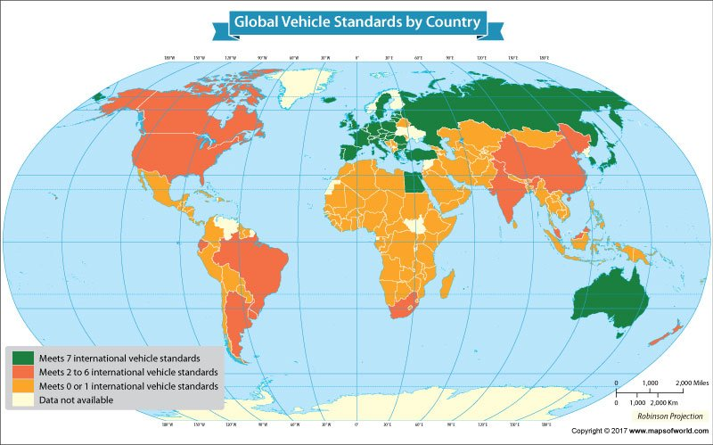 Global Vehicle Standards by country