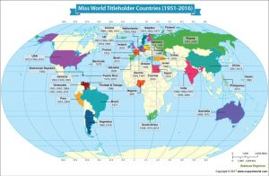 Miss World Titleholder countries