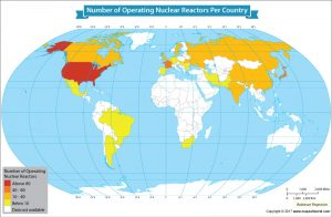 Take a Look at the Number of Nuclear Reactors in These 30 Countries