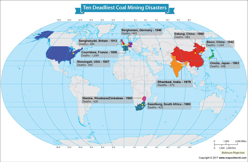 Get to Know the Ten Deadliest Coal Mining Disasters in the World