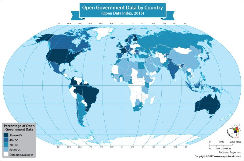 World map showing open government data by country our world world map showing open government data by country gumiabroncs Images