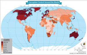 World Map Showing Corruption Control Around the World