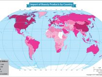 Mapping the Largest Importers of Beauty Products Around the World