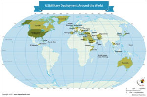 World Map Showing the US Military Deployment Around the World