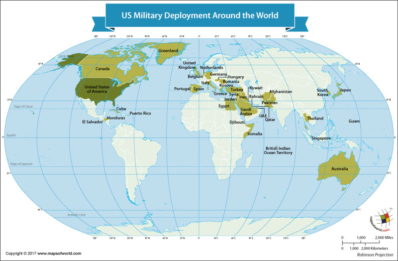 Countries Where US Military Personnel Are Deployed Our World - Us military map