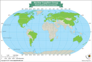 World Map Showing Nuclear Suppliers Group Member States