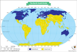 The World Map Showing the North-South Divide