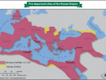 Five important cities of the Roman Empire