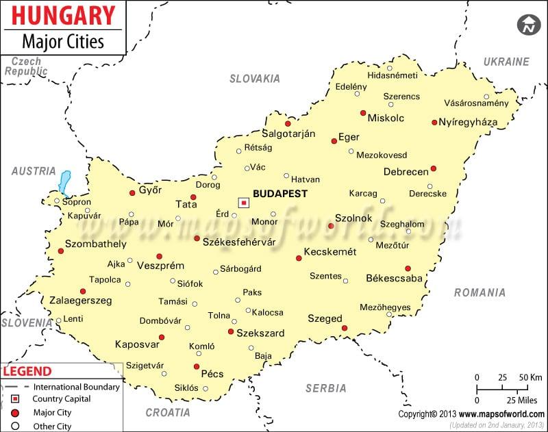 Major Cities of Hungary