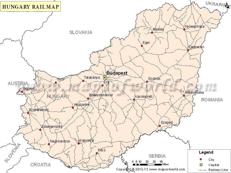 Hungary Rail Map