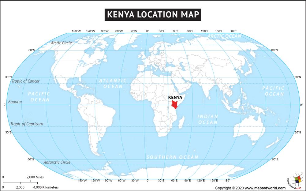 Kenya Location Map