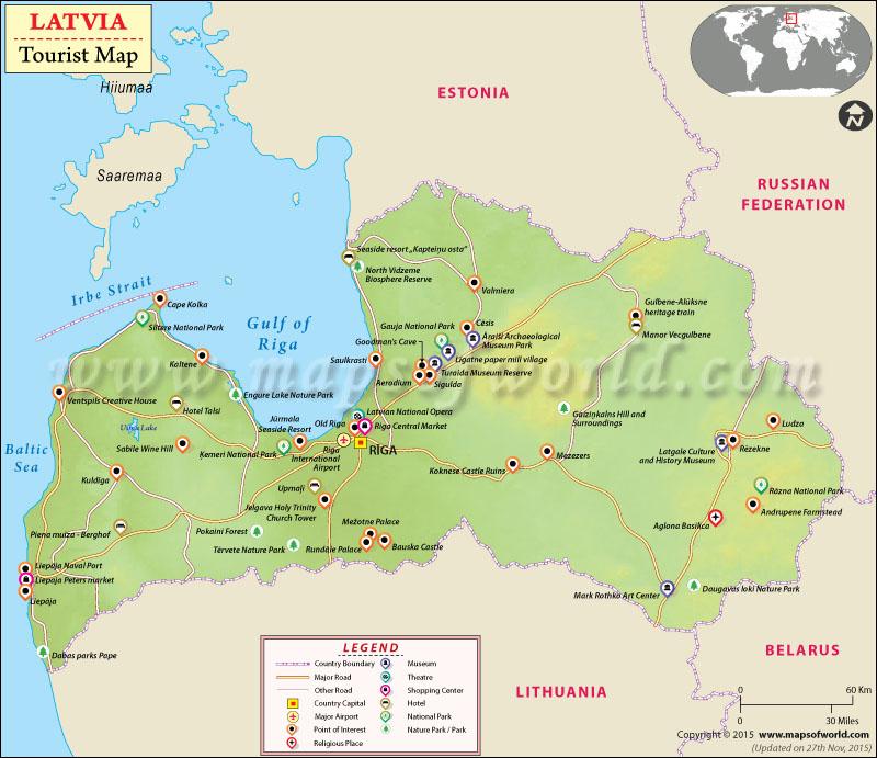 Latvia Travel Map