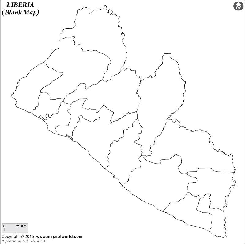 Liberia Blank Map