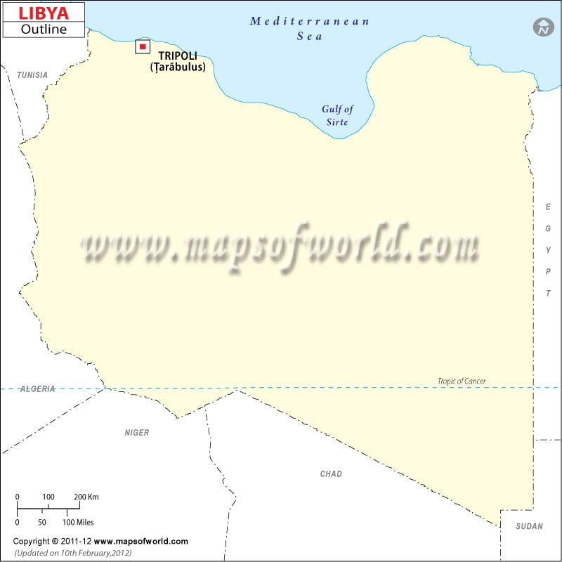 Libya Time Zone Map