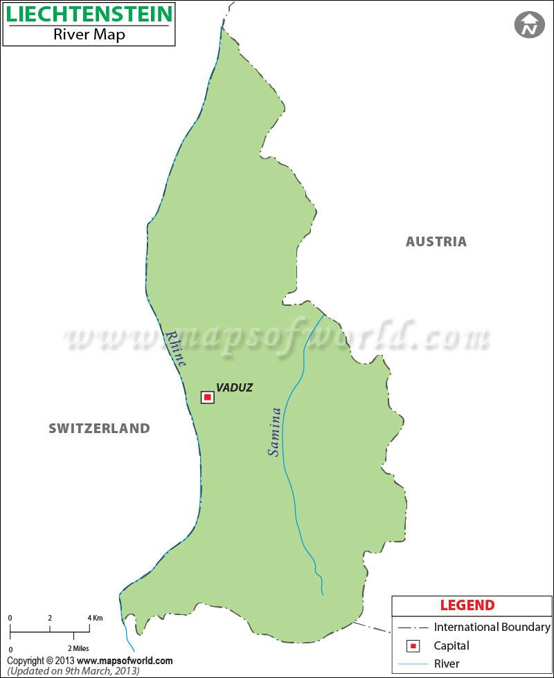 Liechtenstein River Map