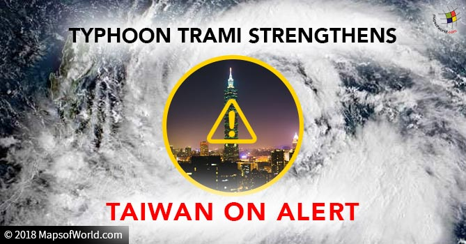 Typhoon Trami strengthens