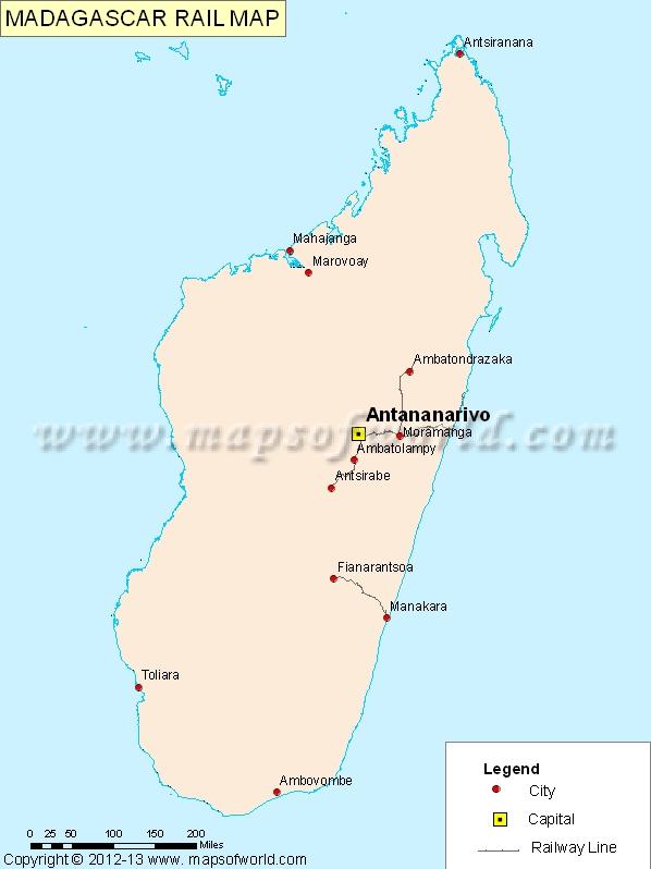 Madagascar Rail Map