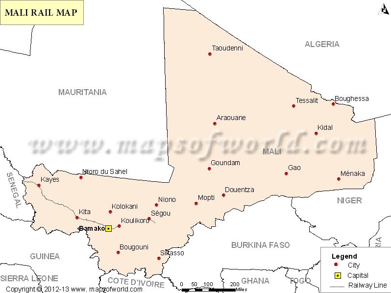 Mali Rail Map